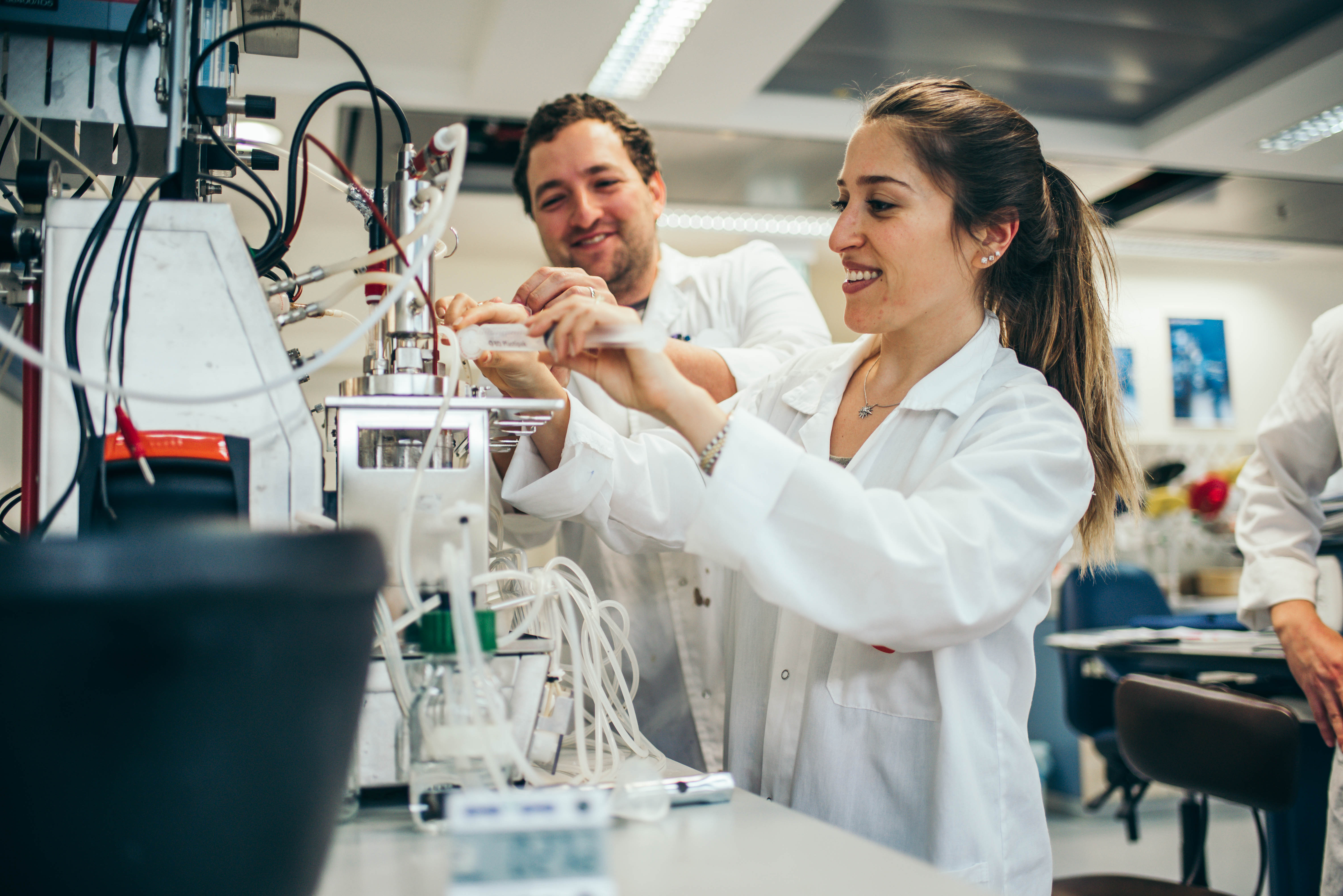 Students at the faculty lab